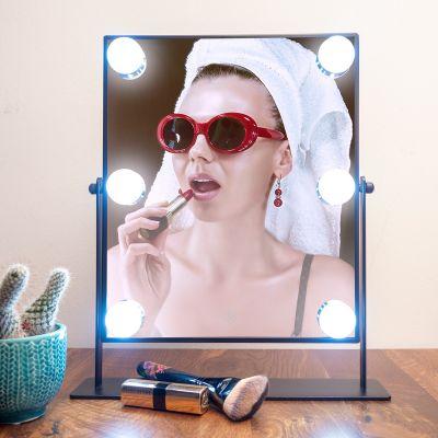 Décoration & Mobilier - Miroir Hollywood à LED en noir