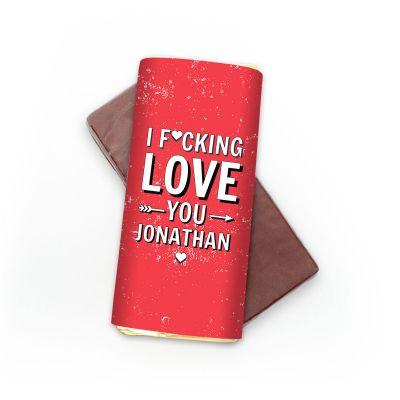 Cadeau fou - Chocolat Personnalisable I F[...]ing Love You