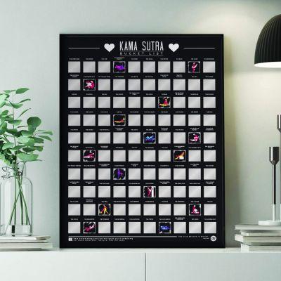 Top Produits - Poster à gratter - 100 positions de Kamasutra