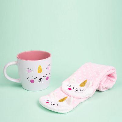 Cadeaux de Noël pour copine - Chaussettes et Tasse Kittycorn