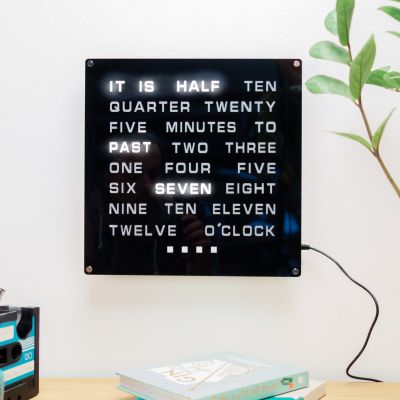 Cadeaux de Noël pour Papa - Horloge de mots LED Maxi