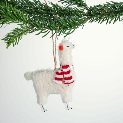 Cadeau de Noël - Boule de Noël Lama