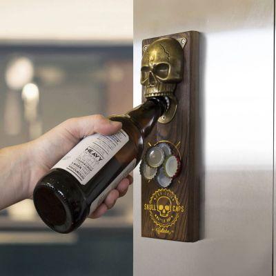 Cadeau autour de la bière - Décapsuleur Magnétique Skull