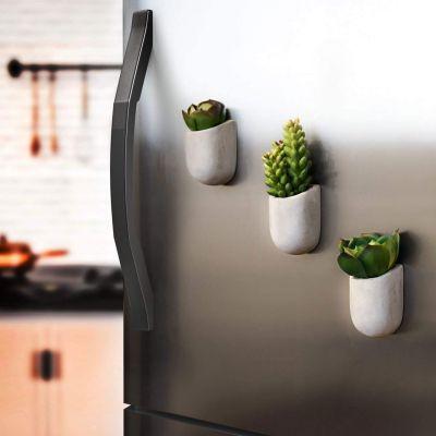 Décoration & Mobilier - Pots de Fleurs Magnétiques - Lot de 3
