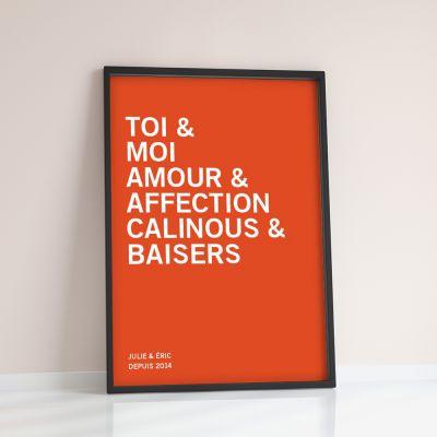 Cadeau couple - You + Me + … - Poster Personnalisable