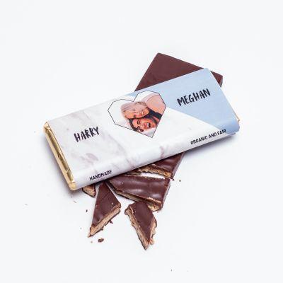 Petites douceurs personnalisées - Chocolat Personnalisable Photo, Cœur & Texte
