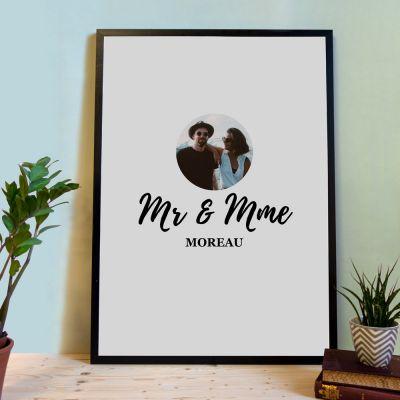 Cadeau mariage - Poster Personnalisable Livre d'Or