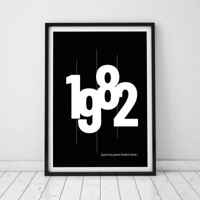 Posters - Année de Naissance - Poster Personnalisable