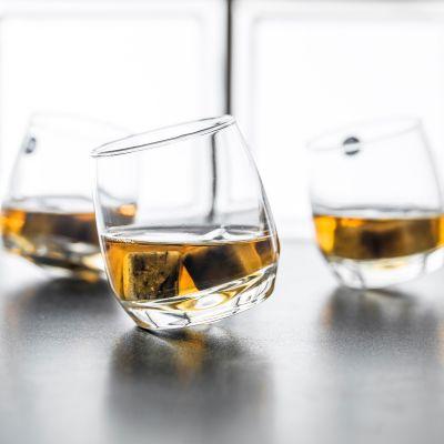 Cadeau 50 ans - Verres à Whisky toupie (Set de 6 verres)