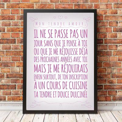Posters - Affiche Romantique personnalisable