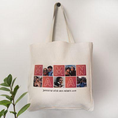 Cadeaux de Noël pour maman - Sac Personnalisable Mama avec Photos