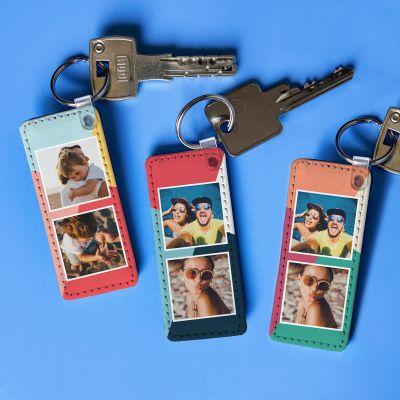 Cadeau 50 ans - Porte-clés Personnalisable avec 2 Photos