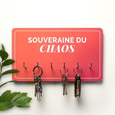 Cadeaux en bois personnalisés - Porte-clés Personnalisable sur 2 Lignes