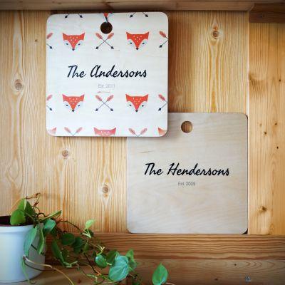 Cadeaux en bois personnalisés - Planche à découper personnalisable Couple