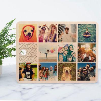 Cadeaux en bois personnalisés - Planche à découper personnalisable avec 11 images