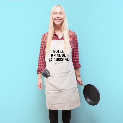 Cadeau 50 ans - Tablier de Cuisine Personnalisable Le Chef Rebelle