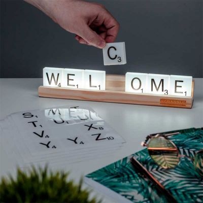 Cadeau anniversaire de mariage - Lampe Scrabble