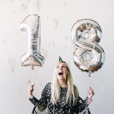 Cadeau anniversaire Femme - Ballons nombres géants
