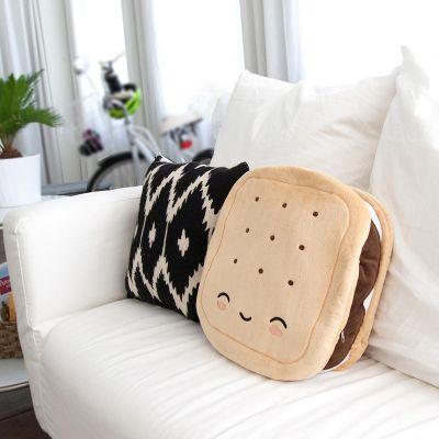 Gadgets pour la maison - Coussin chauffé en forme de biscuit au chocolat