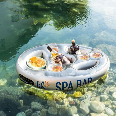 Cadeau anniversaire Femme - Bar flottant pour Spa et bain à remous (gonflable)
