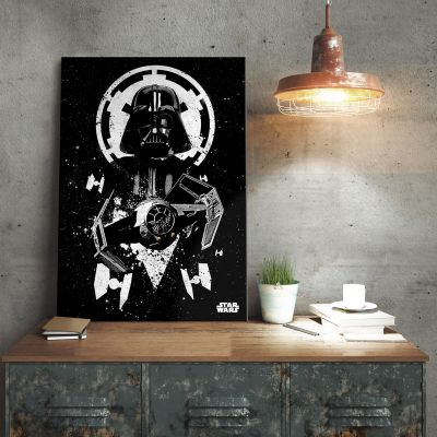 Posters - Poster métallique Star Wars – Tie Fighter Vador