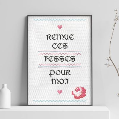 Posters - Poster Personnalisable Effet Broderie