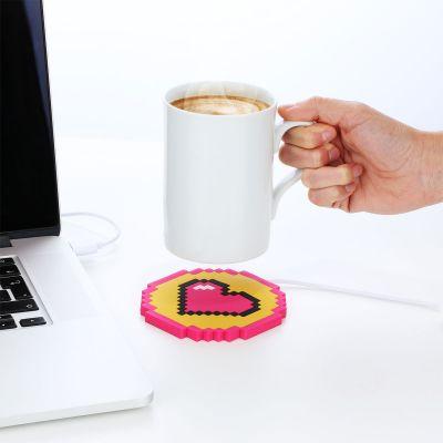 Chauffe-tasse USB coeur