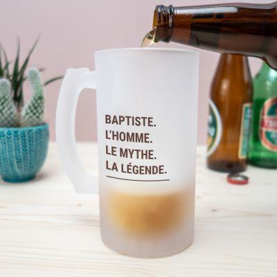 Cadeau prenom - Chope de Bière Moderne & Personnalisable