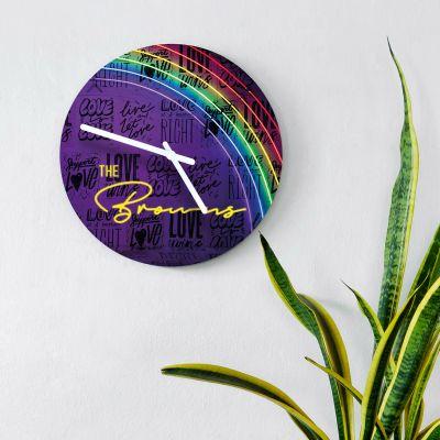 Horloges personnalisées - Horloge Personnalisable avec Effet Néon