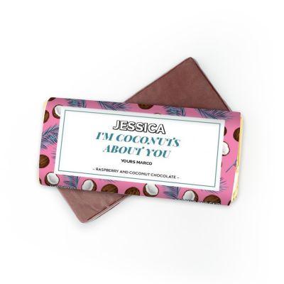 Cadeau Saint Valentin Homme - Chocolat avec 4 lignes