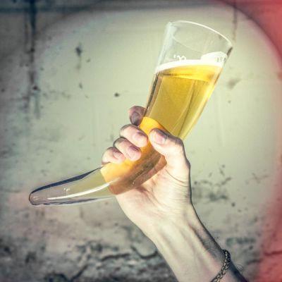 Maison et habitat - Corne à boire Viking en Verre