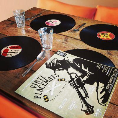 Cadeau Anniversaire Copain - Sets de table Vinyle – lot de 4