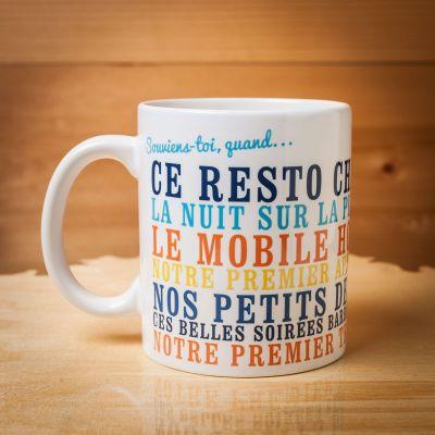 Tasses personnalisées - Tasse personnalisable – Souviens toi, quand...