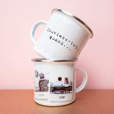 Cadeau romantique - Tasse Métal Personnalisable Souviens-Toi Quand…