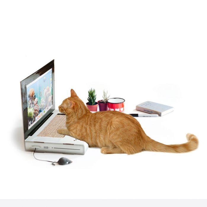 Grattoir pour chat ordinateur