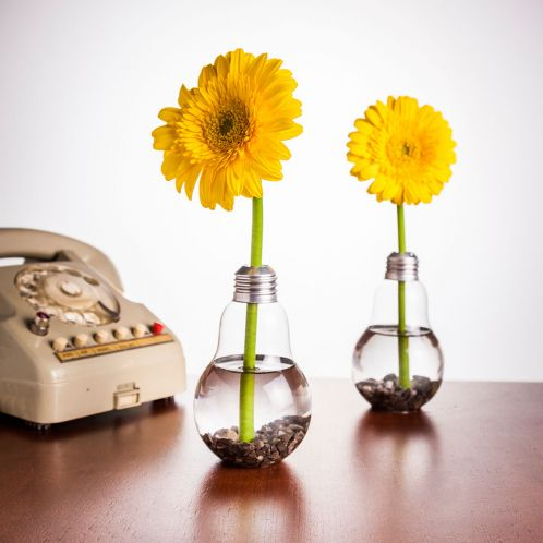 Idée cadeau - Set de 6 Vases ampoules