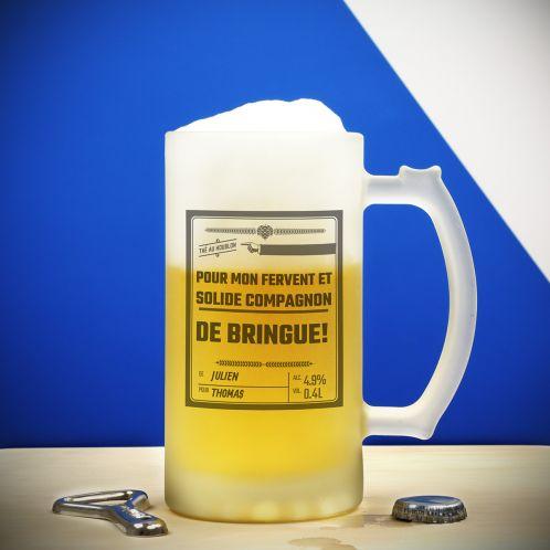 Idée cadeau - Chope en verre Personnalisable