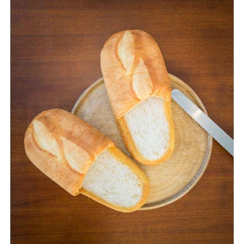 Cadeau anniversaire - Chaussons en forme de pain