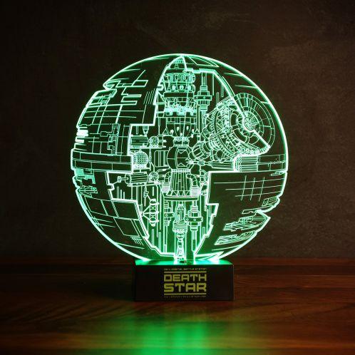 Cadeau anniversaire - Lampe Étoile de la Mort Star Wars – Effet 3D