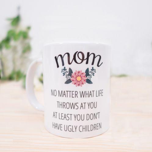 Cadeau de Noël - Tasse Personnalisable - Mom