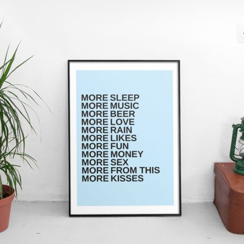 More - Poster Personnalisable