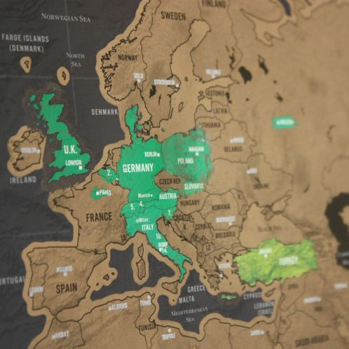 Idée cadeau - Carte du monde à gratter Deluxe