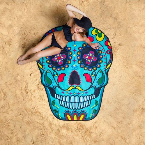 Idée cadeau - Serviette de plage Sugar Skull