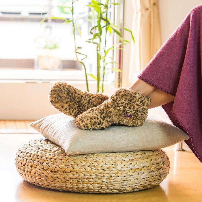 Cadeau Femme : les pantoufles chauffantes