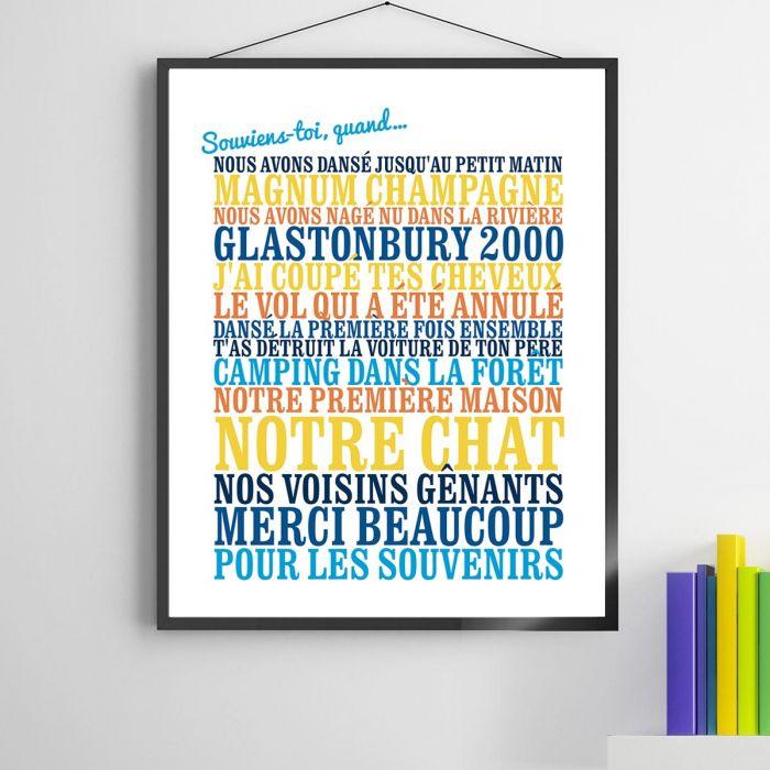 best service 3cbd4 b1e10 Cadeau Femme   le poster souviens-toi.